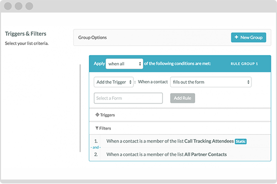 Trigger your email sends and campaigns.