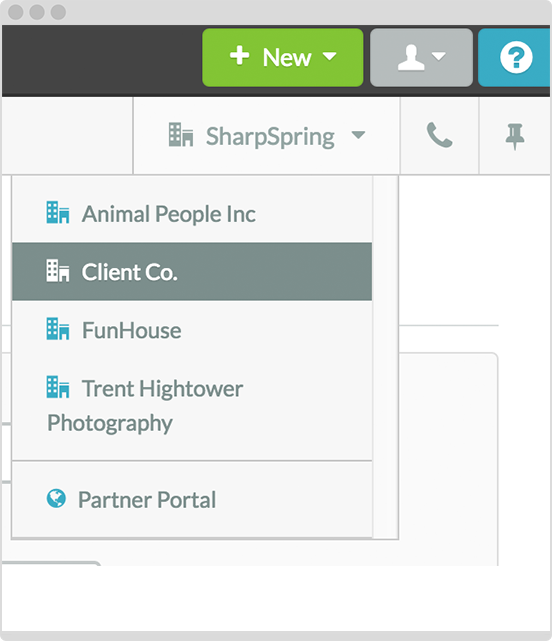 Manage all sub-accounts from one login - switch between clients and agency accounts!