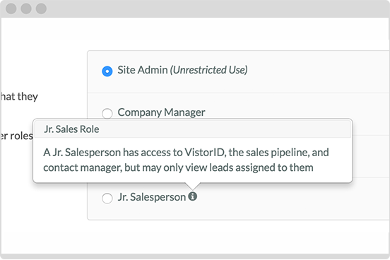 Assign user roles to your employees and maximize performance.