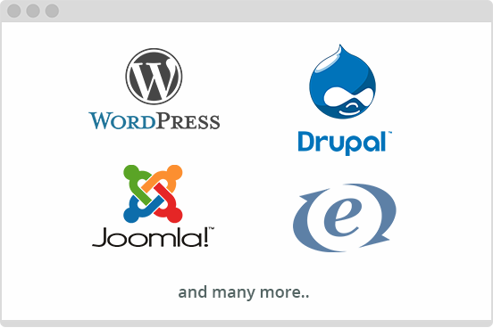 SharpSpring supports most popular CMS