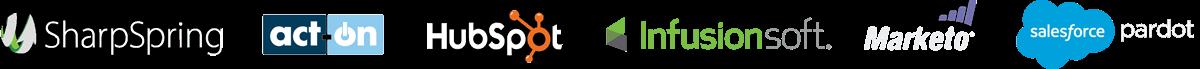 SharpSpring, Act-On, Hubspot, InfusionSoft, Marketo, and Salesforce Pardot