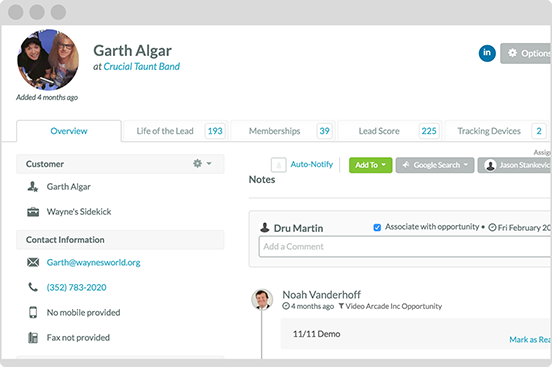 Track leads with marketing automation