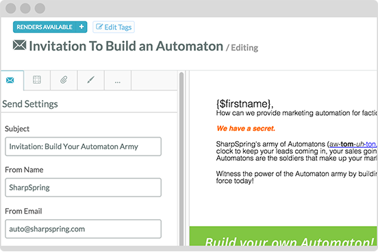 Behavioral based email automation